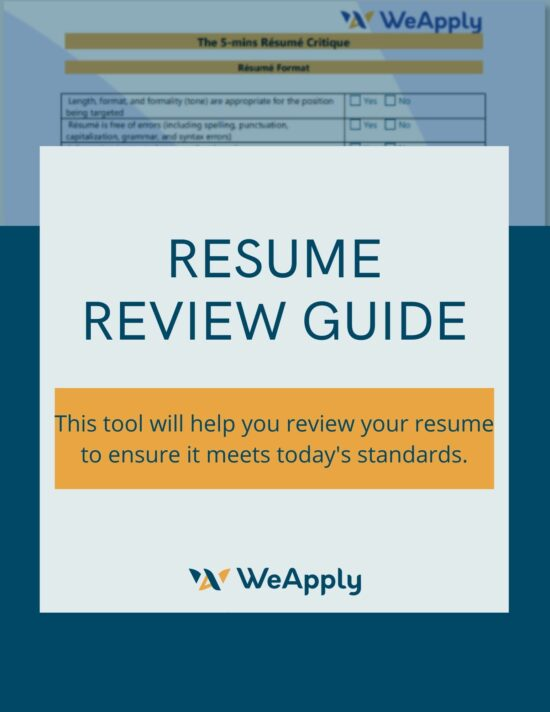 resume guide, Career Resources